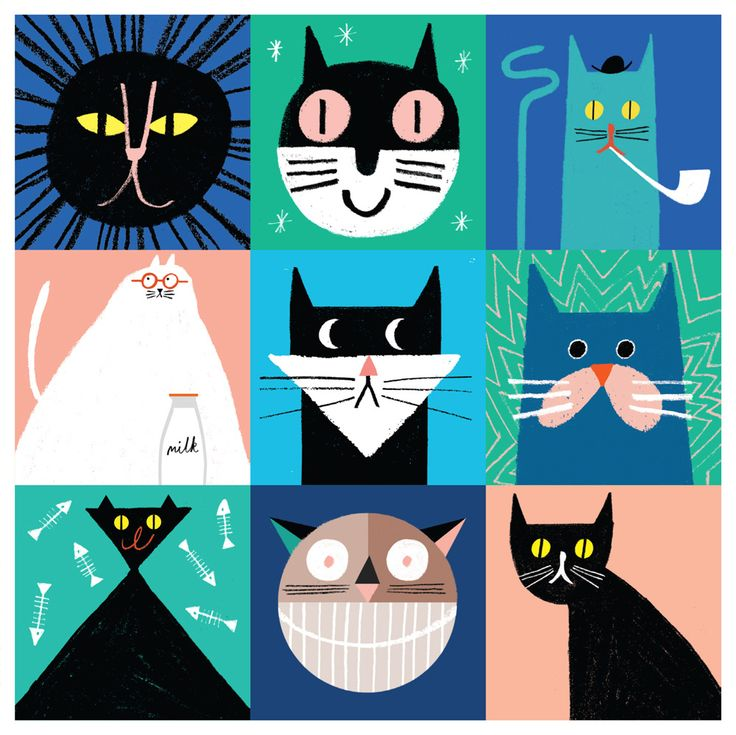 rob-hodgson simple shapes cats