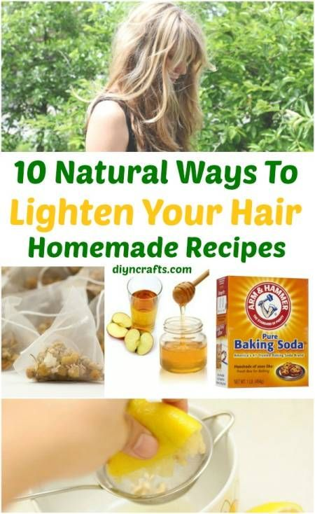10 Ways to Lighten your Hair Naturally {Homemade Recipes} | For the teen.