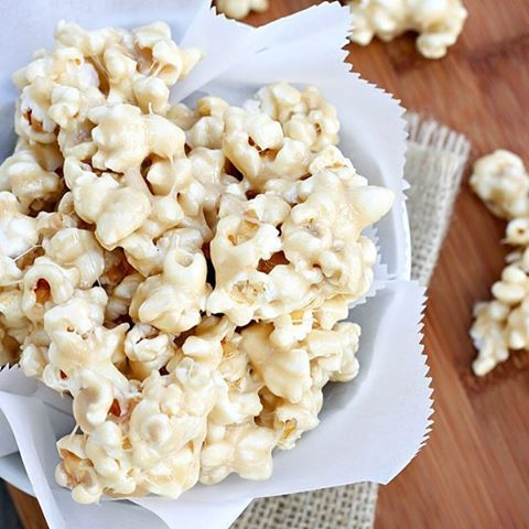 Caramel And Marshmallow Coated Popcorn