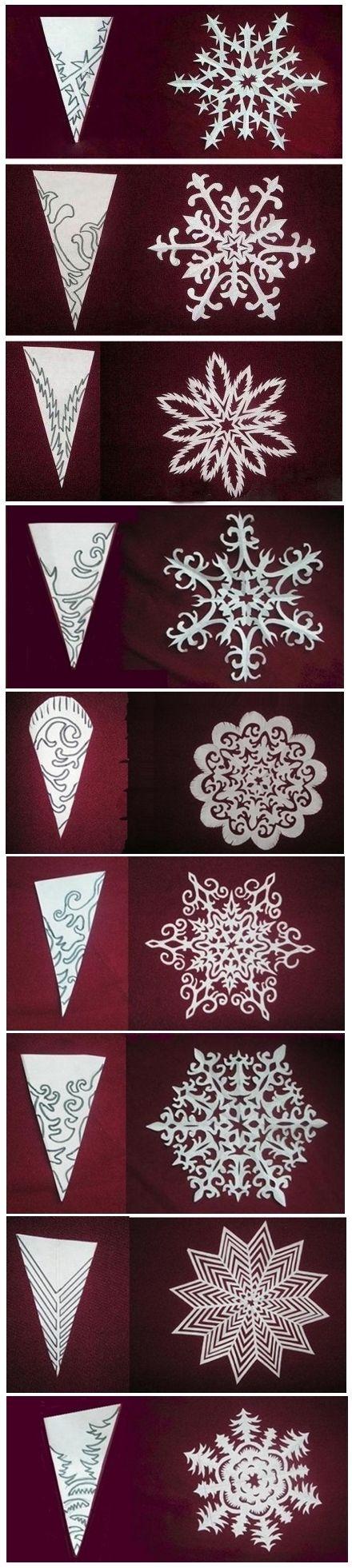 Flocos de neve papel