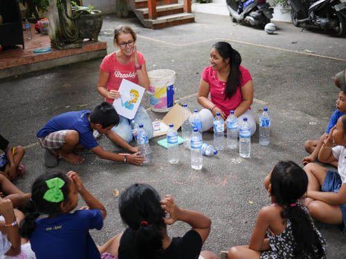 Plastic workshop!  #vpbali #volunteerabroad #kids #creativelearning #charity