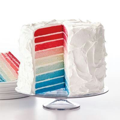 White cake batter & food color!  What a beautiful cake!