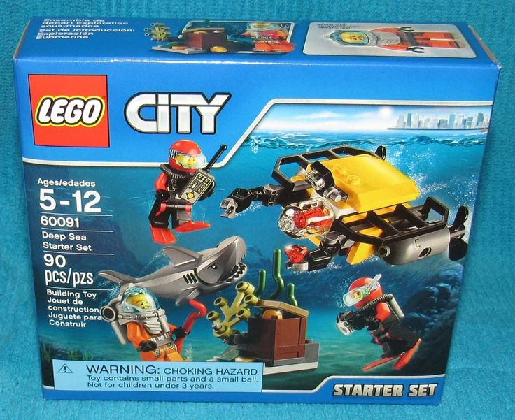 New Lego City Deep Sea Starter Set 60091 Factory Sealed