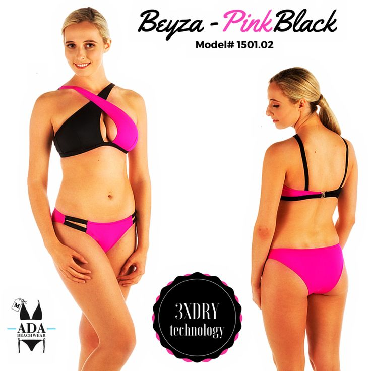 BEYZA - TWO PIECE BIKINI SWIMWEAR- PINK/BLACK... All our products have 3XDRY technology that provides the comfort by drying 8 times faster than regular swimwear brands.  UV filtered fabrics give extra protection to your skin.