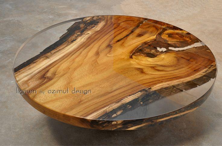 tavolo in legno di rovere e resina trasparente, Lignum by Azimut design. Tutti i nostri prodotti solo realizzati a mano, misure e disegno su richiesta. bespoke table with oak and clear resin, Lignum by Azimut design