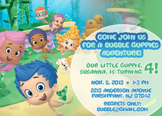Bubble Guppies Invitation Bubble Guppies Birthday by CMLDesigns, $16.00