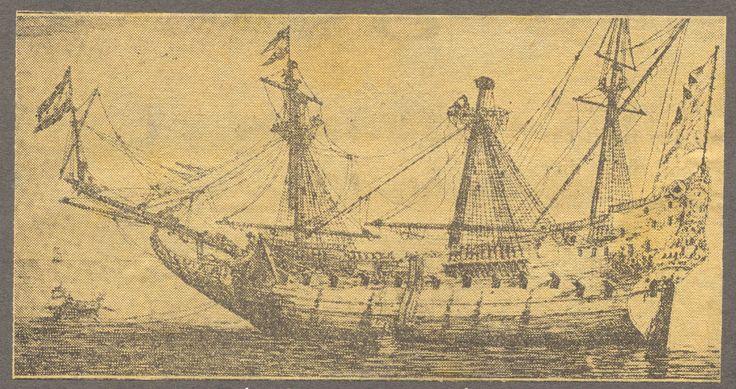 Drommedaris, het schip waarmee Jan van Riebeeck naar Zuid-Afrika voer. Bron Zuid-Afrikahuis