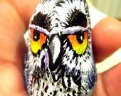 My new owl on alittlemarket.it   Gufo dell'Oceano 2 sasso dipinto a mano idea regalo portafortuna : Dipinti di ilpopolodeisassi