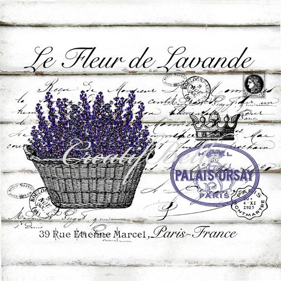 French Vintage Lavender Large A4 Instant Digital by CreatifBelle