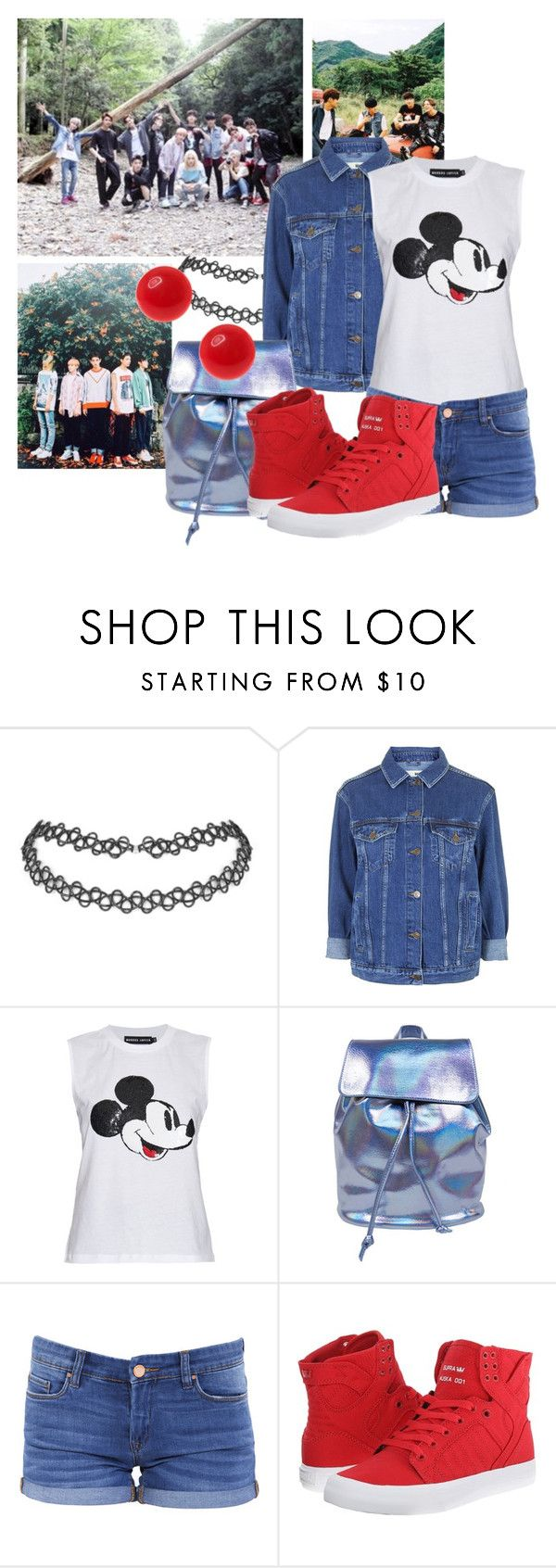 """""""Day with Seventeen"""" by schnpri ❤ liked on Polyvore featuring Topshop, Markus Lupfer, BLANKNYC, Supra, 17, kpop and seventeen"""
