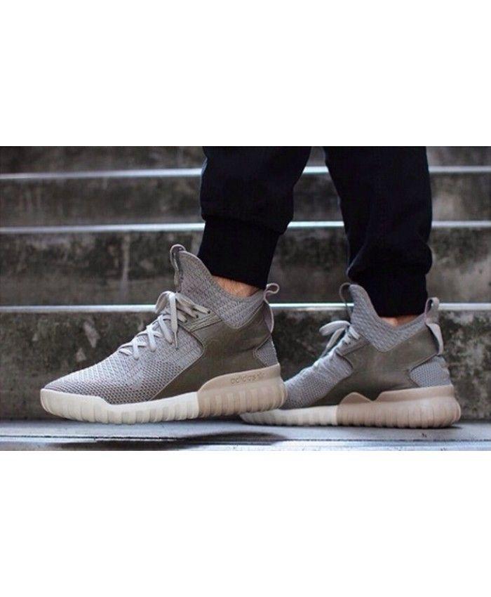 charcoal solid grey adidas tubular x