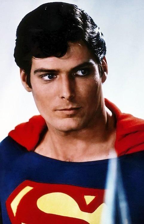 Christopher Reeve looking beautiful as Superman