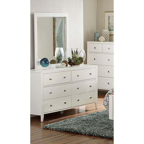 ne kids pulse white dresser with mirror
