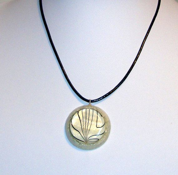 Orgone  orgonite pendant with white and black by OrgoniteCreations
