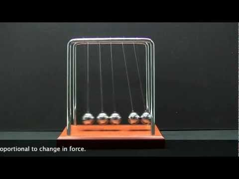 Isaac Newton's Cradle Demonstrates Three Physical Laws of Motion