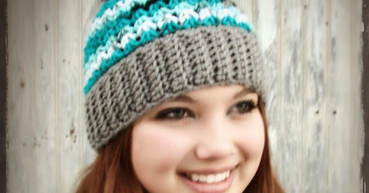 Trinity Stitch Beanie  * with optional pom-pom *   Materials :  *1 skein worsted weight yarn (I use Hobby Lobbys I Love This Yarn!)  if do...