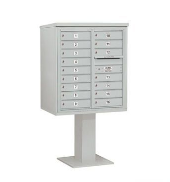 4C Pedestal Mailbox (Includes 26 Inch High Pedestal and Master Commercial Lock) - 9 Door High Unit (62-1/8 Inches) - Double Column - 16 MB1 Doors - Gray by Salsbury Industries. $1286.35. 4C Pedestal Mailbox (Includes 26 Inch High Pedestal and Master Commercial Lock) - 9 Door High Unit (62-1/8 Inches) - Double Column - 16 MB1 Doors - Gray - Salsbury Industries - 820996455628