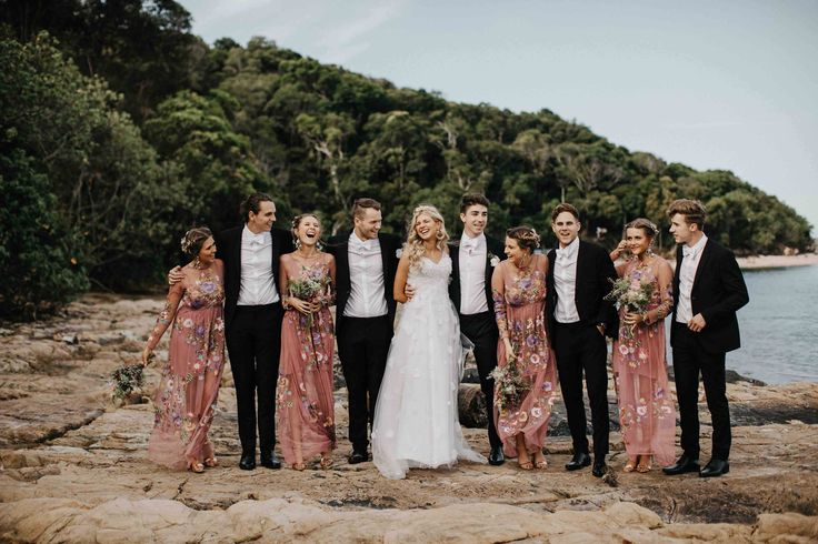 Pastels, flowers and beautiful flowing gowns was the theme of Emily + Dan's Gold Coast wedding