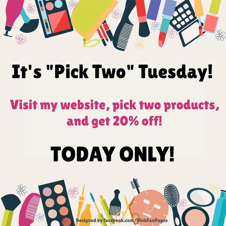 Happy #Pick2Tuesday! ~ENJOY~ Pick 2 of ANYTHING & receive 20%OFF!! www.marykay.com/brookeramsey **PM me for PROMO CODE**