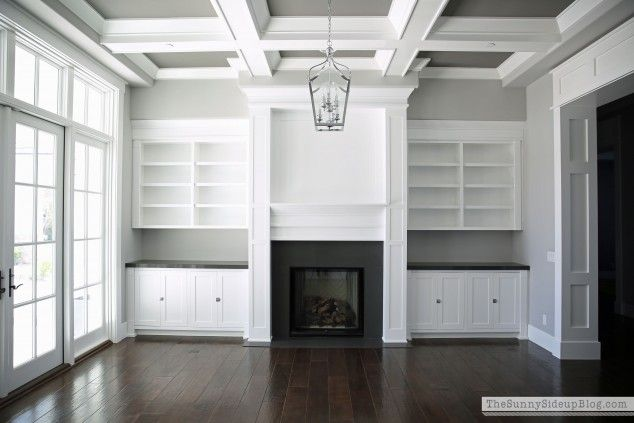 fireplace built-ins (formal living room at Sunny Side Up)