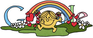 Love that Google is honoring the 76th birthday of Roger Hargreaves with Google doodles!