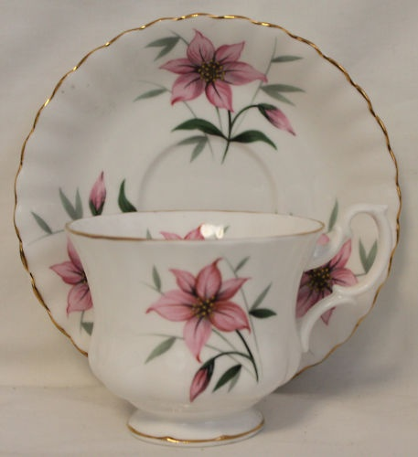 Lovely Royal Albert Floral Pink Teacup and Saucer