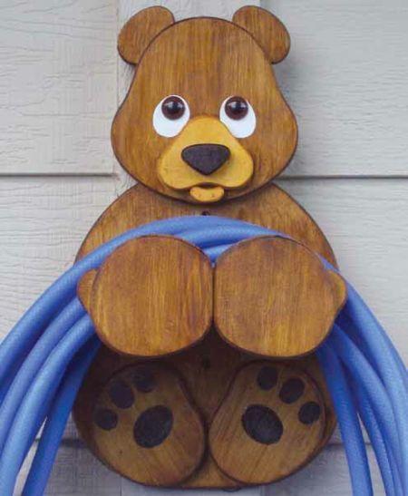 19-W2822 - Bear Hose Holder Woodworking Plan