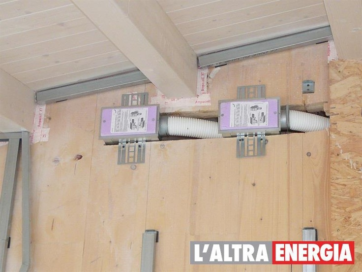 Ventilazione meccanica controllata: sistema di aria fresca ottimizzato.
