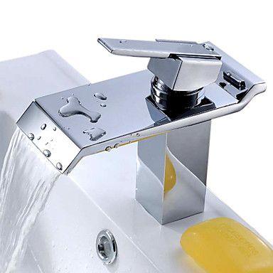 eigentijdse waterval badkamer wastafel kraan - chromen afwerking 112761 2016 – €54.87