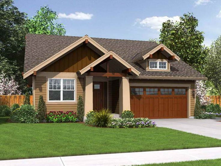 Landscaping ideas for front of house ranch tips on Ranch craftsman style house plans