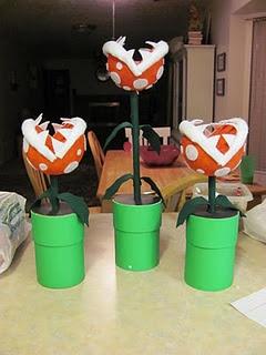 Mario party - How to make the Piranha Plant centerpieces