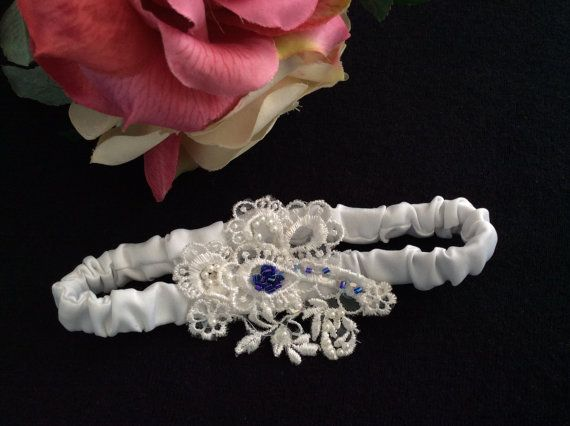 Wedding Garter Bridal Garter With Pearls and Blue by CBAccessories, $19.95