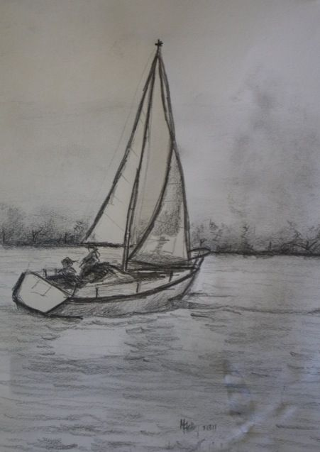 Sailboat Drawing Sketch Related Keywords & Suggestions - Sailboat ...