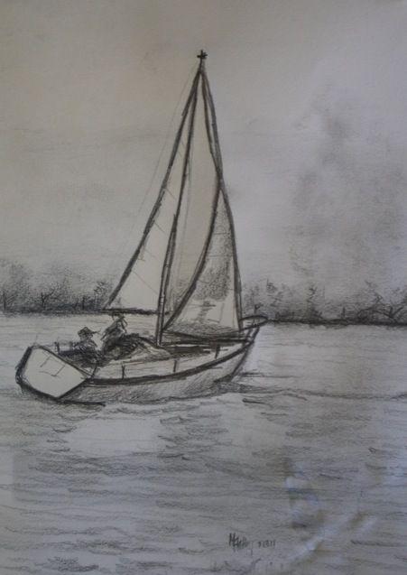 Sailboat Drawing Sketch Related Keywords & Suggestions - Sailboat ...