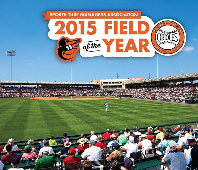 """Ed Smith Stadium, the Spring Training home of the Orioles in Sarasota, Fla., has won the """"Field of the Year Award"""" for professional baseball from The Sports Turf Managers Association.  Head Groundskeeper of Florida Operations Dan Thomas will accept the award this week at the 27th annual STMA Conference & Exhibition in San Diego, Calif. #Birdland #Sarasota #Orioles"""