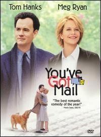 """""""You've Got Mail"""" (1998) Another great movie. Lots of fun! I probably love it even more because they are both bookstore owners!! :): Film, Chick Flicks, You'Ve Got Mail, Toms Hanks, Nora Ephron, Favorite Movies, You'V Got Mail, Meg Ryan, Mail 1998"""