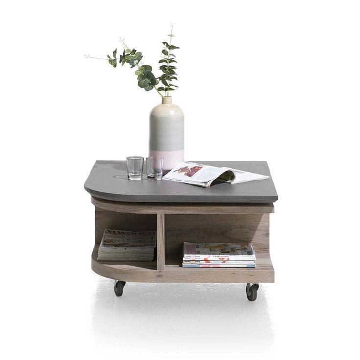 Eivissa salontafel met marble beton top van het merk Henders&Hazel koop je zonder verzendosten en snel bij deleukstemeubels.nl | Deleukstemeubels.nl