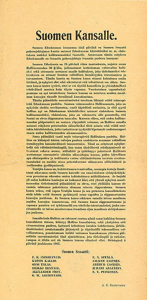 The Finnish Declaration of Independence... it is rather powerful reading :´)