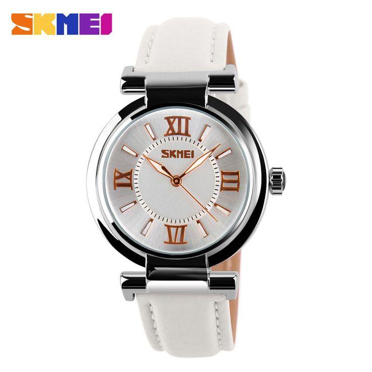 SKMEI Марка Женщины Платье Часы 3ATM Водонепроницаемый Кожаный Ремешок Мода Кварцевые Часы Студент Наручные Часы Женские Часы 2016 Новый #women, #men, #hats, #watches, #belts, #fashion, #style