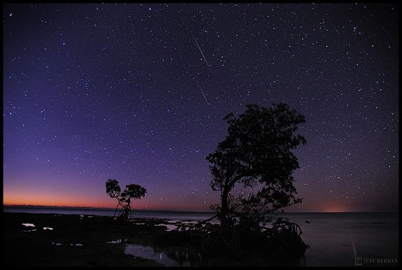 Quandrantid Meteors and Zodiac Lights over the Florida Keys
