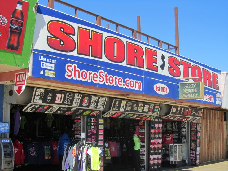 Seaside Heights, New Jersey - the Shore Store where the cast of the show Jersey Shore worked
