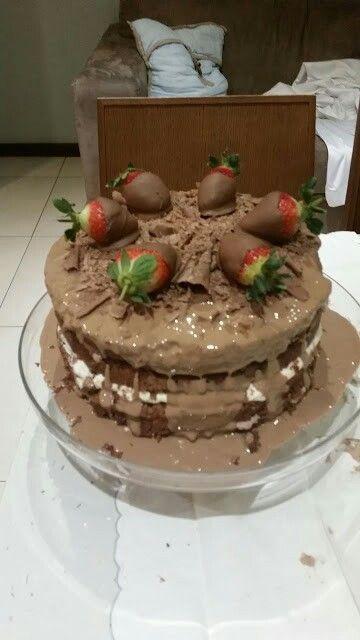 Choc cream cake