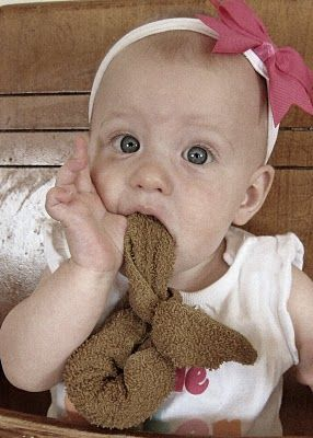 Boo Boo bunny as a teething soother. Don't have a kid, but I need to remember this!