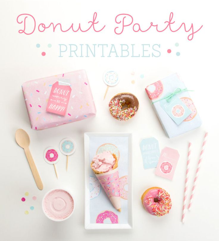 FREE Donut Party Printables! Via Kara's Party Ideas and Tinyme!