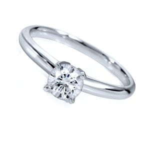 1.13Ct D/ VVS1 Solitaire Engagement Ring In 10K Solid White Gold Bridal Jewelry by JewelryHub on Opensky