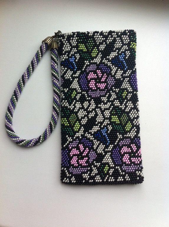 """чехол для телефона """"Витражные цветы""""   biser.info - всё о бисере и бисерном творчестве   Бисеромания   Постила"""