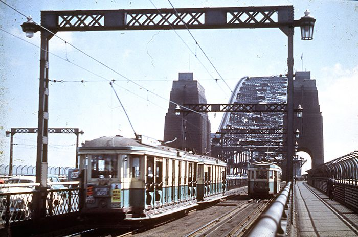 Historical photos of the tramway that once went across the Harbour Bridge under Wynyard Station. The tracks are still there to this day. Supplied