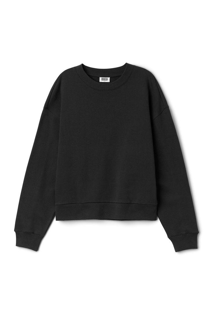 Weekday image 51 of Huge Cropped Sweatshirt in Black