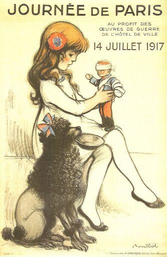 cartel parisino vintage - Buscar con Google