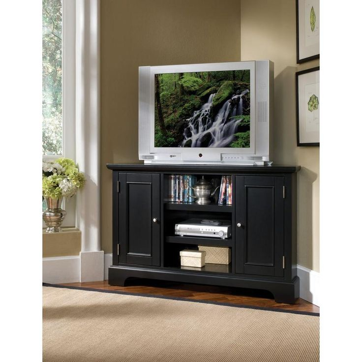 Visit The Home Depot To Buy Decorators Collection Bedford Black Corner TV Stand Find This Pin And More On Upstairs Living Room Ideas